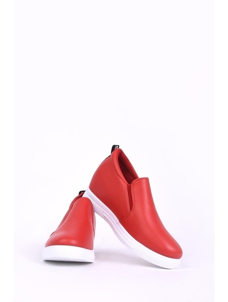 Pantofi Dama Casual Cu Elastic Lateral Musical Rosii