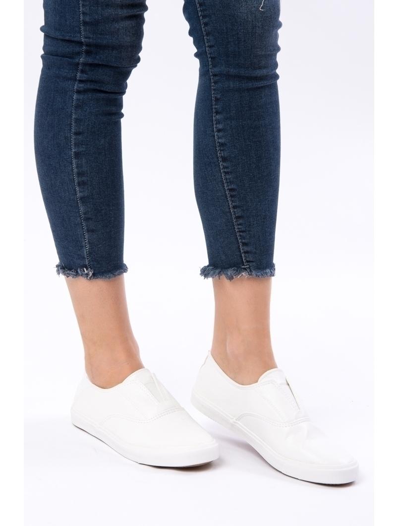 Pantofi Dama Sport Cu Elastic Running Albi