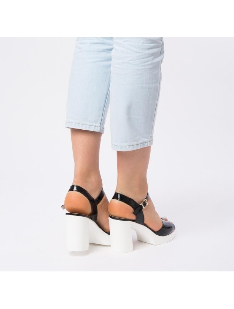 Sandale Dama Lacuite Brianna Negre