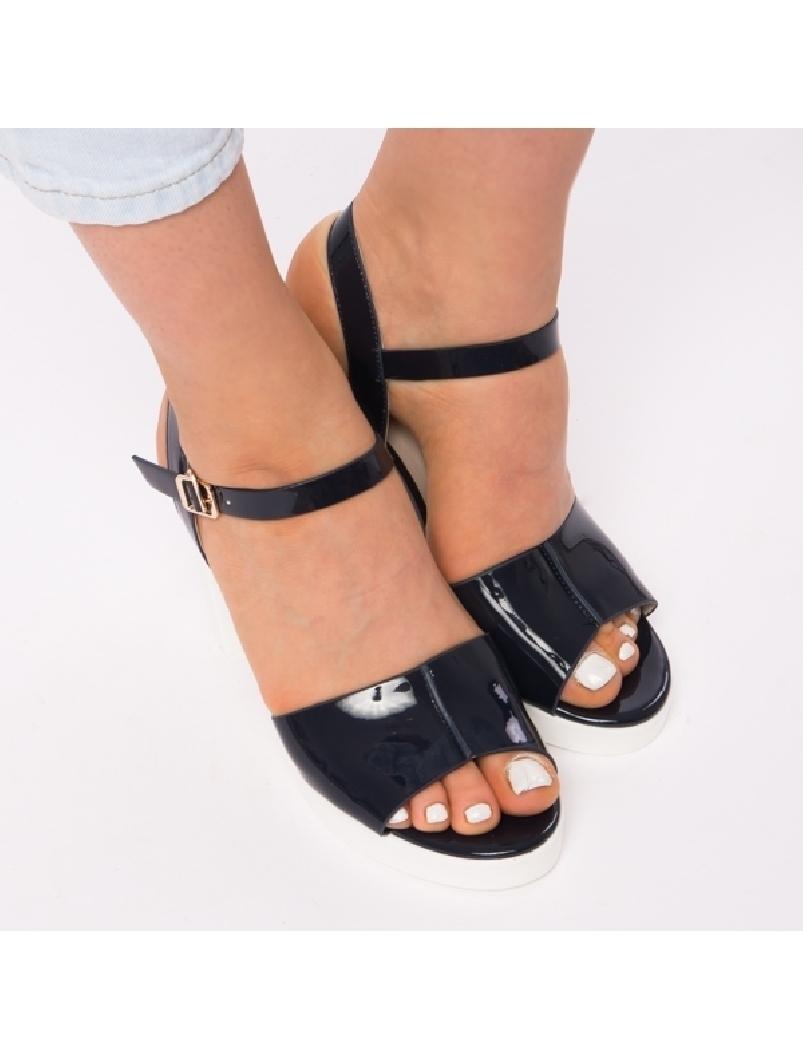 Sandale Dama Lacuite Brianna Bleumarin
