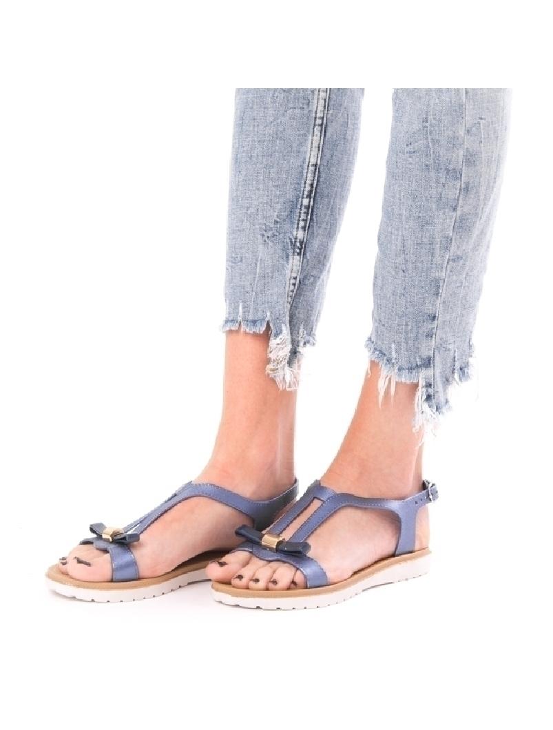 Sandale Dama BestNight Albastru Sidefat