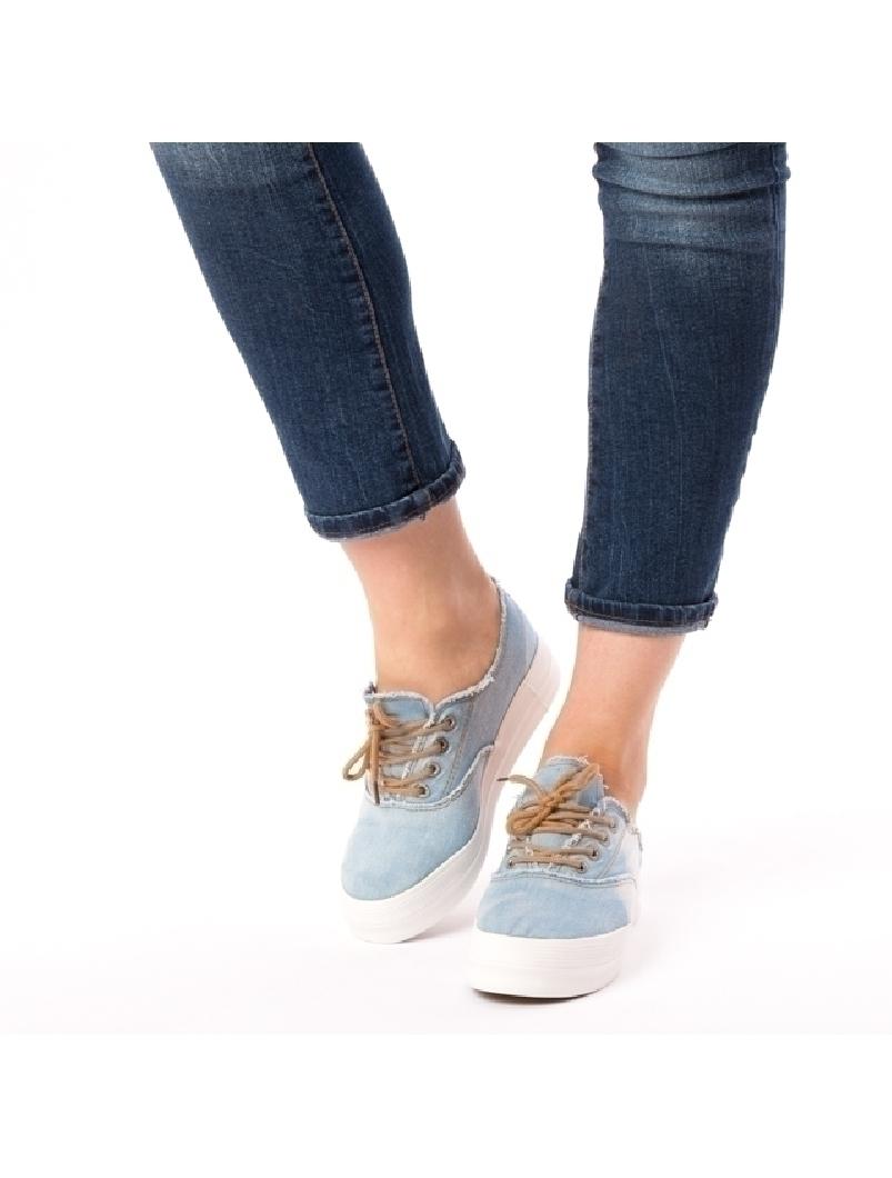 Tenisi Dama Jeans Albastru Deschis