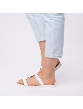 Papuci Dama Lacuiti Camelia Albi