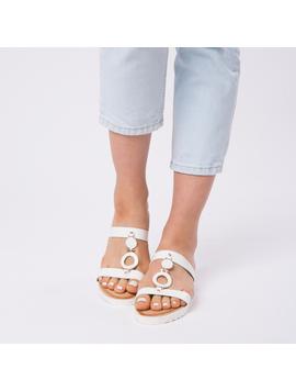 Papuci Dama Lacuiti Camelia Albi-2