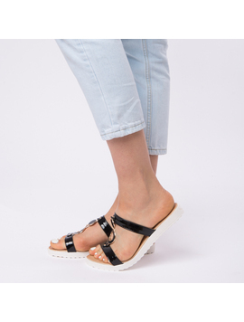 Papuci Dama Lacuiti Camelia Negri