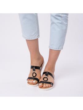 Papuci Dama Lacuiti Camelia Negri-2