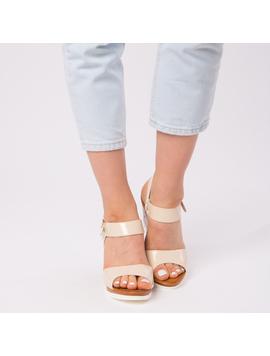 Sandale Dama Lacuite Gina Crem-2