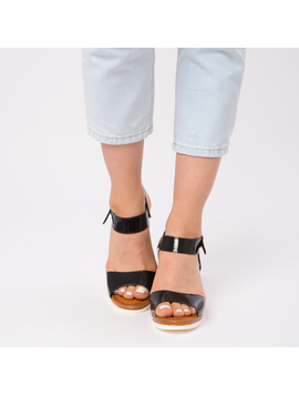 Sandale Dama Lacuite Gina Negre-2