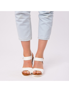 Sandale Dama Lacuite Gina Albe-2