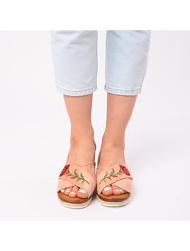 Sandale Dama Cu Broderie Silvia Roz-2