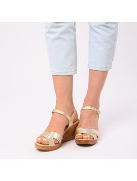 Sandale Dama Cu Platforma Adriana Aurii-2