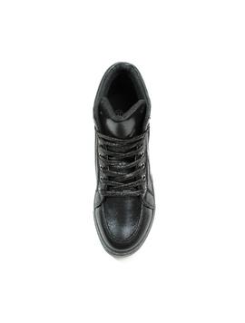 Sneakers Dama Cu Siret Si Platforma HighLander Negru-2