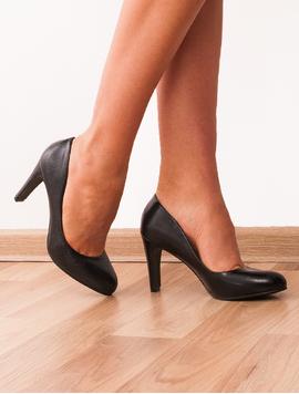 Pantofi Dama Cu Toc Accent Negri