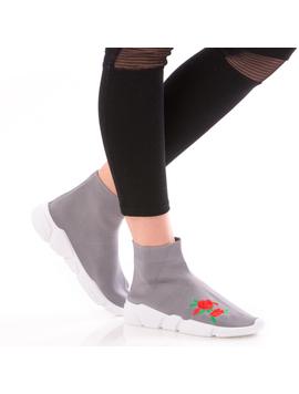 Sneakers Dama FreshRose Gri-2