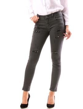Jeans Dama ApliQue Gri