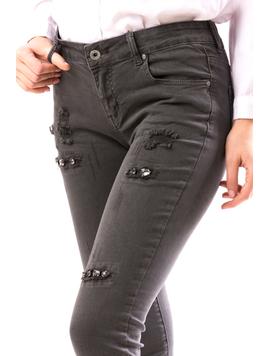 Jeans Dama ApliQue Gri-2