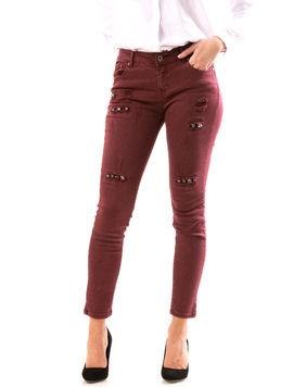 Jeans Dama ApliQue Grena