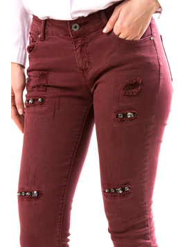 Jeans Dama ApliQue Grena-2