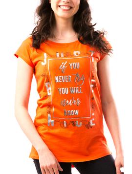 Tricou Dama NeverWill Portocaliu-2