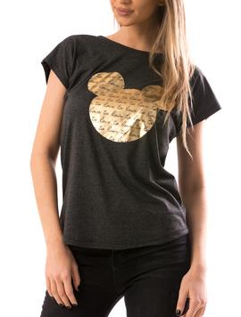 Tricou Dama GoldMicckey Gri-2