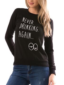 Bluza Dama NeverDrink20 Negru-2