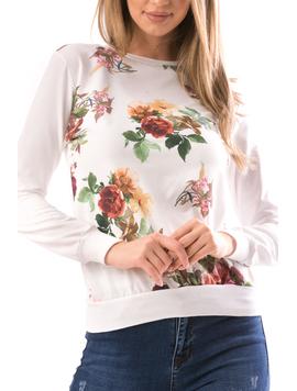 Bluza Dama LooseFlower Alb-2