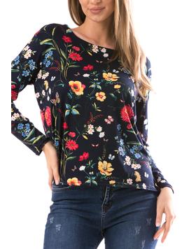 Bluza Dama FlowerShower Negru si Galben-2
