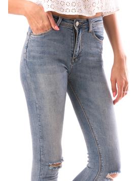 Jeans Dama HalfWash Albastru-2