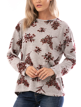 Bluza Dama AutumFlower Gri Bordo Verde-2