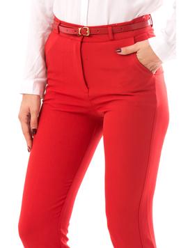 Pantaloni Dama HighStyle Rosu-2