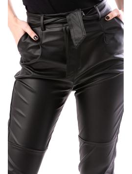 Pantaloni Dama AnkleZipper Negru-2