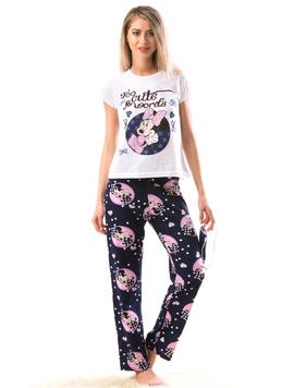 Pijama Dama Minisleep Alb Albastru