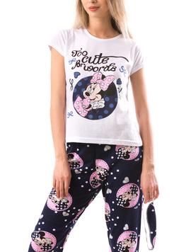 Pijama Dama Minisleep Alb Albastru-2