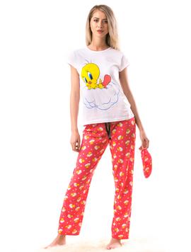 Pijama Dama ChickSleep Alb Albastru