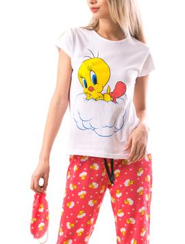 Pijama Dama ChickSleep Alb Albastru-2