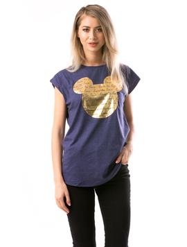 Tricou Dama GoldMickey Negru Gold