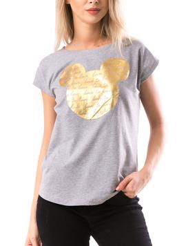 Tricou Dama GoldMickey Gri Gold-2