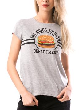 Tricou Dama DeliciosBurger Gri-2