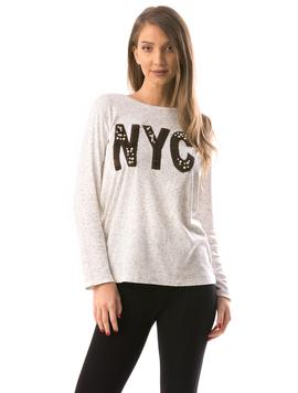 Bluza Dama NYCBubles Alb