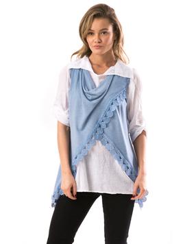 Camasa Si Vesta Dama CountryWear Bleu