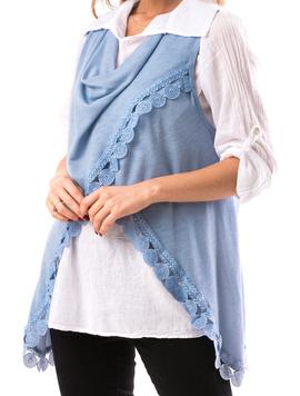 Camasa Si Vesta Dama CountryWear Bleu-2