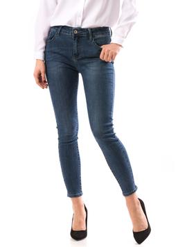 Jeans Dama BeadsDown Bleumarin