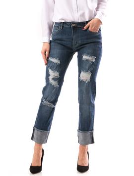Jeans Dama TurnDown Bleumarin