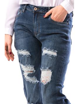Jeans Dama TurnDown Bleumarin-2