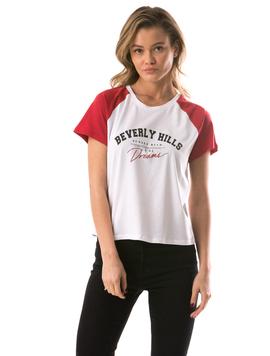 Tricou Dama BeverlyHills Alb
