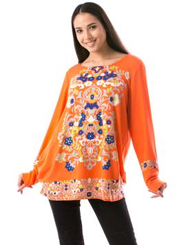 Bluza Dama Minsty177 Portocaliu