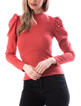 Bluza Dama Perlys100 Caramiziu-2