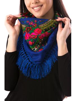 Esarfa Dama TraditionalWear12 Albastru-2
