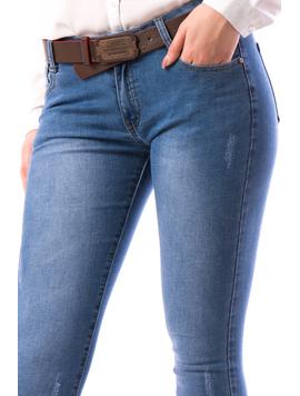 Jeans Dama FshyTyu78 Bleu-2