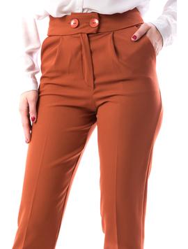 Pantaloni Dama NineOne18 Caramiziu-2